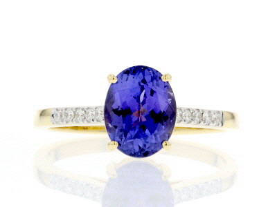 Blue Tanzanite 18k Yellow Gold Ring 1.58ctw