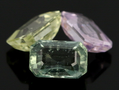 Multi-Color Sapphire Untreated Emerald Ctu Set 3.99ctw