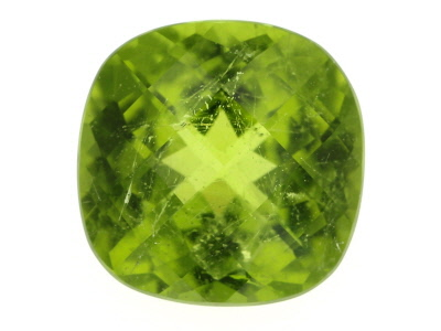Peridot 13mm Square Cushion Mixed Step Cut 9.19ct