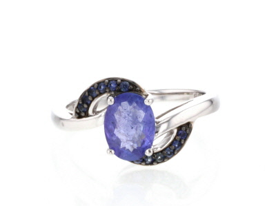 Blue Tanzanite Sterling Silver Ring 1.71ctw