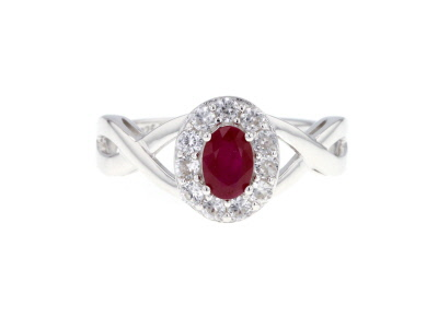 Red Burmese Ruby Sterling Silver Ring 1.08ctw