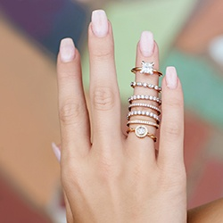 ring stack on hand