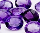 loose amethyst gemstones