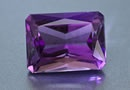 cushion purple amethyst gemstone