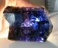 blue tanzanite rough gem