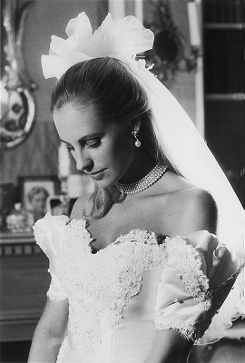 bride in pearls