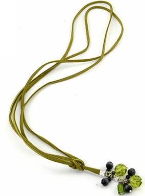 Casual Moss Lariat Necklace