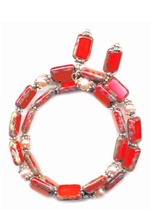 red fiery pearl bracelet