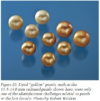 Dyed Golden Pearls