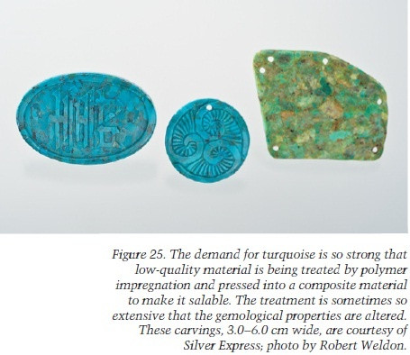 Carvings on turquoise