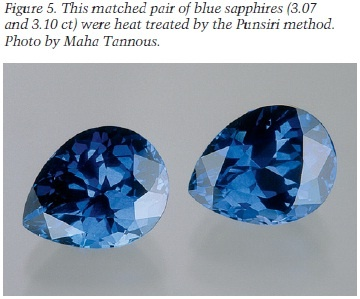 Matched pair of Blue Sapphires