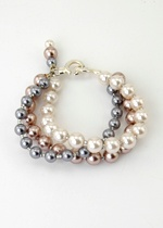 Glass Pearl Trio Bracelet