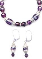 Grape Sorbet Bracelet & Earrings