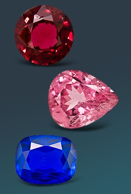 variety of spinel gemstones