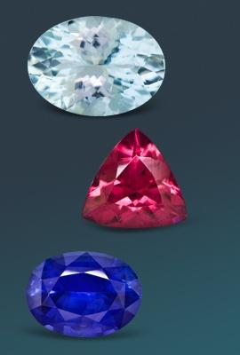 three gemstones