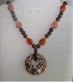 Magnesite Donut Focal Necklace