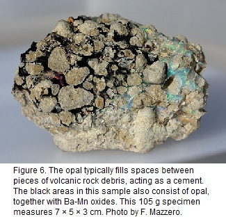 volcanic rock debris