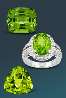 Peridot Gems and Jewelry