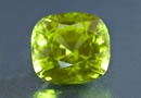 single peridot gemstone detail