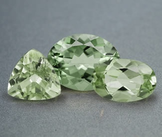 three green shanseres diopside gems