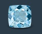 square sky blue topaz gemstone