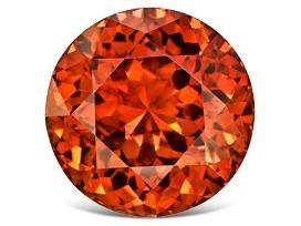 single red sphalerite gemstone detail