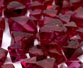 large bunch of spinel gemstones