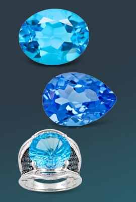 three blue topaz gems