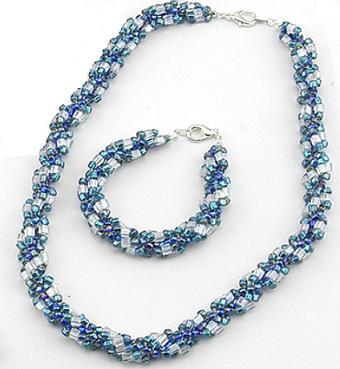 blue turquoise rope set