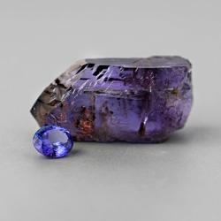 rough tanzanite gemstones