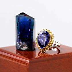 tanzanite gemstone and ring