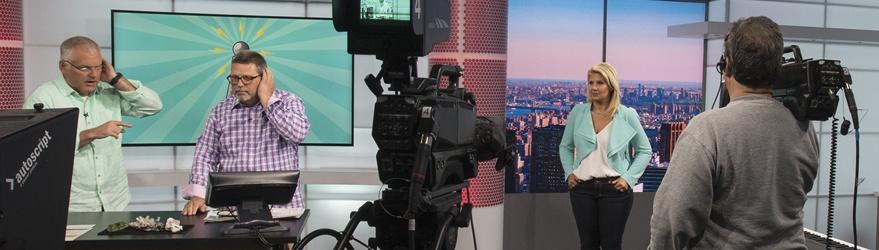 JTV hosts on set