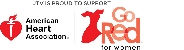 JTV is proud to support the American Heart Association | Go Red for Women
