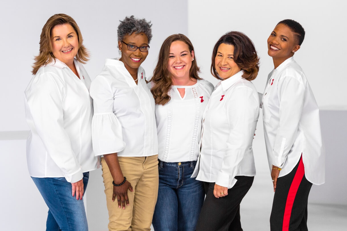 Group of women supporting the American Heart Association