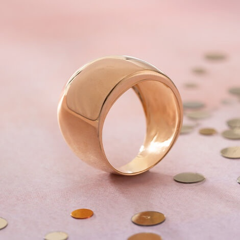 Gold Plated Dome Ring