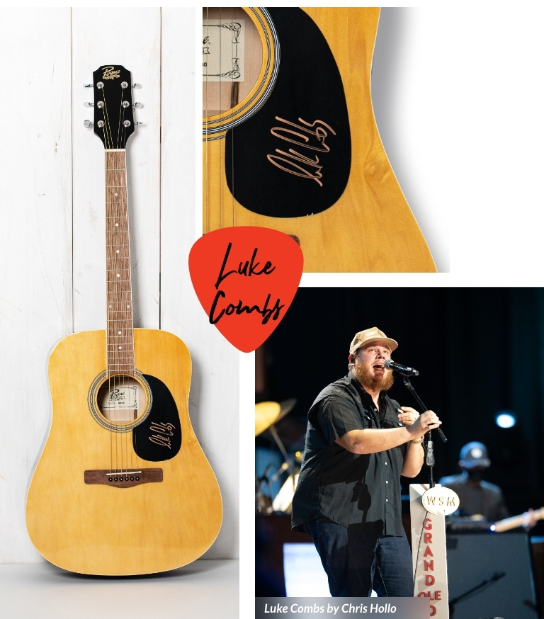 Signed guitars and country music artists