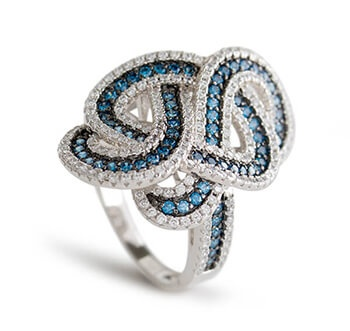 Blue and White Bella Luce Ring