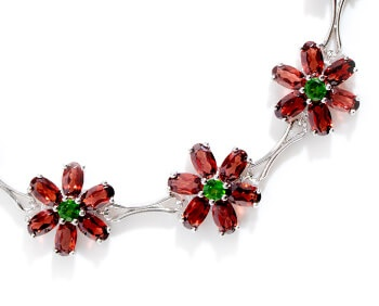 floral style red and green bracelet