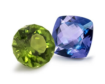 Green and Blue Gemstones