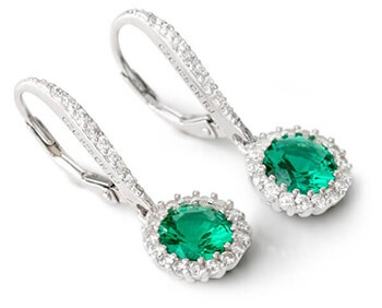Green Bella Luce Earrings