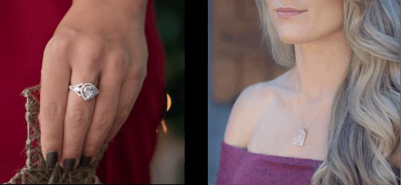 Women wearing jewelry
