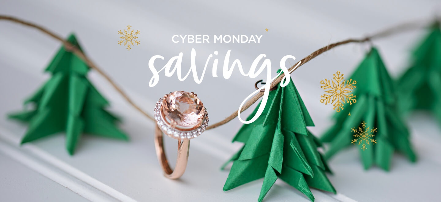 cyber monday savings morganite ring