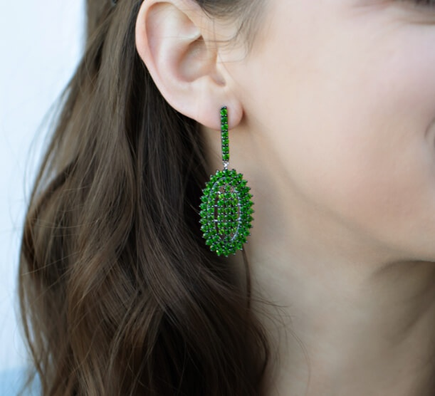 Woman wearing an earring