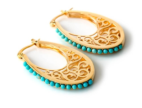stud earrings silver adorning sarai products ava jewel chain and blue teal