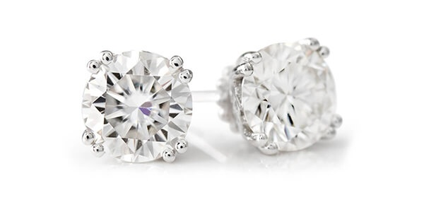 Moissanite Fire Stud Earrings