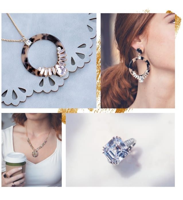 Overstated big and bold jewelry
