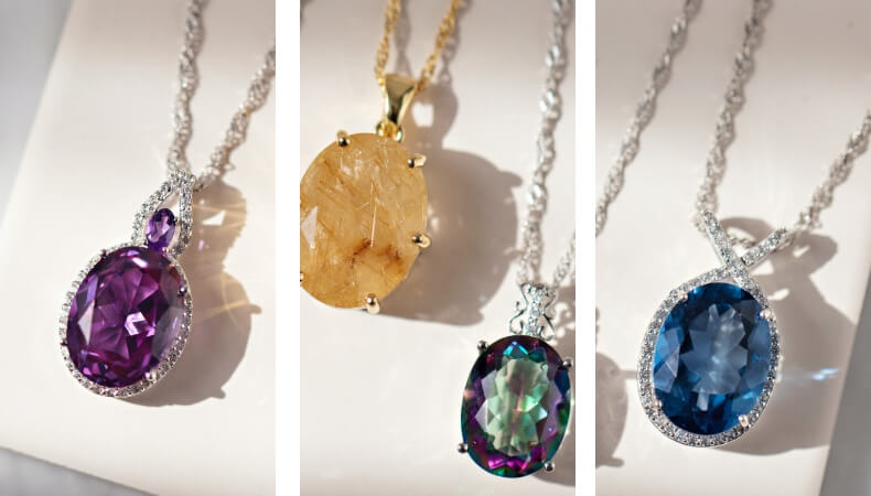 Big Gemstone Necklaces