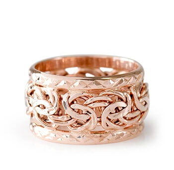 Rose Gold Byzantine Band Ring