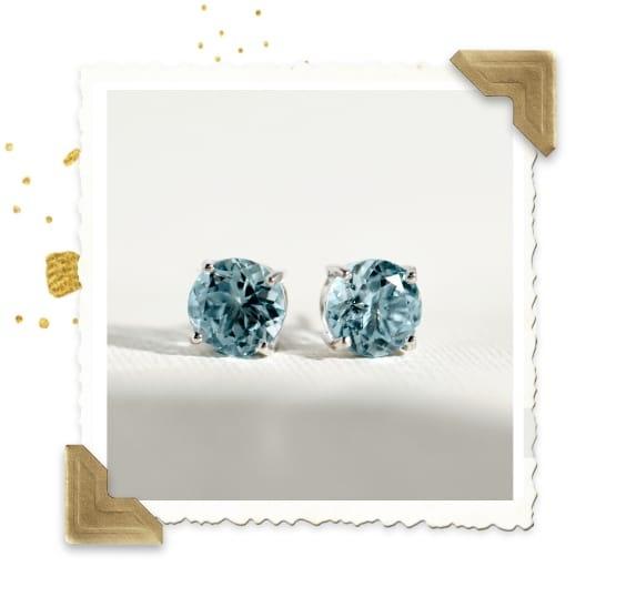Color Gemstone Studs