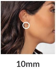 10mm Hoop Earrings